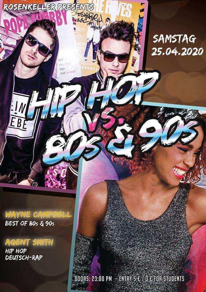 80s & 90s vs. Hip Hop im Rosenkeller Jena am 25.04.2020