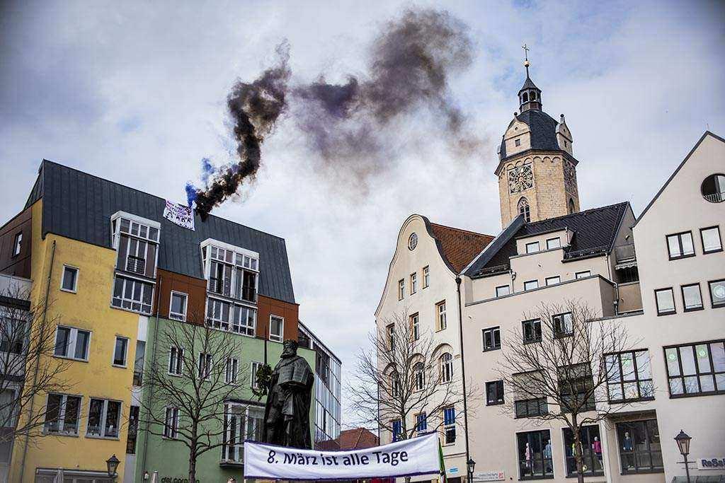 8. März ist alle Tage. Frauen*streik-Aktionstag!Demonstration in Jena
