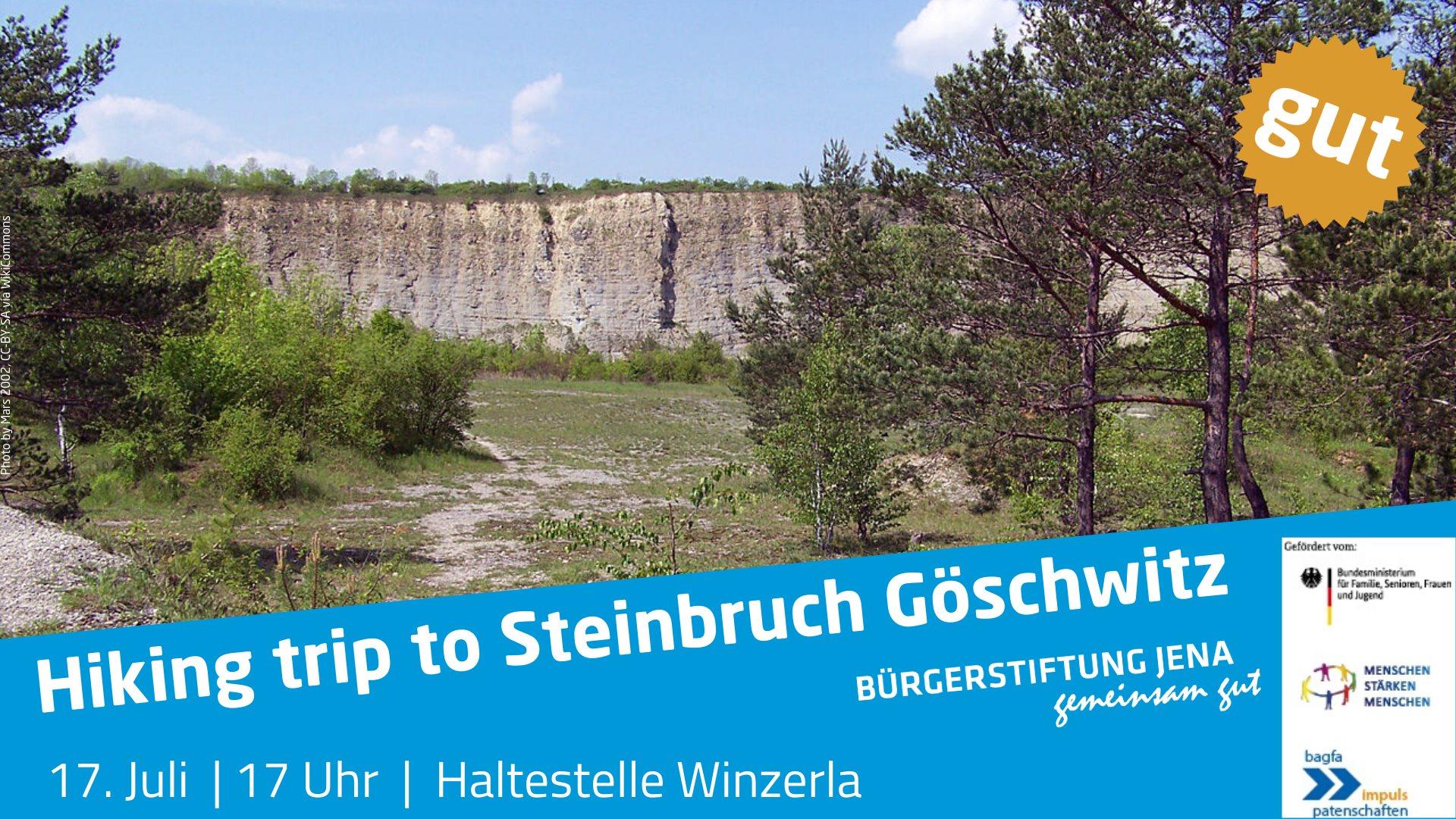 Hiking trip to Steinbruch Göschwitz