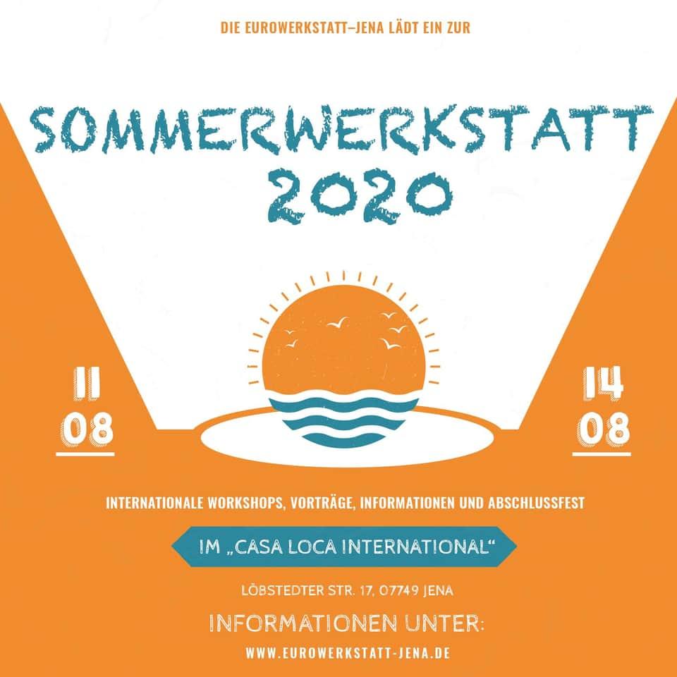 Sommerwerkstatt 2020 - 11. bis 14. August mit Workshops