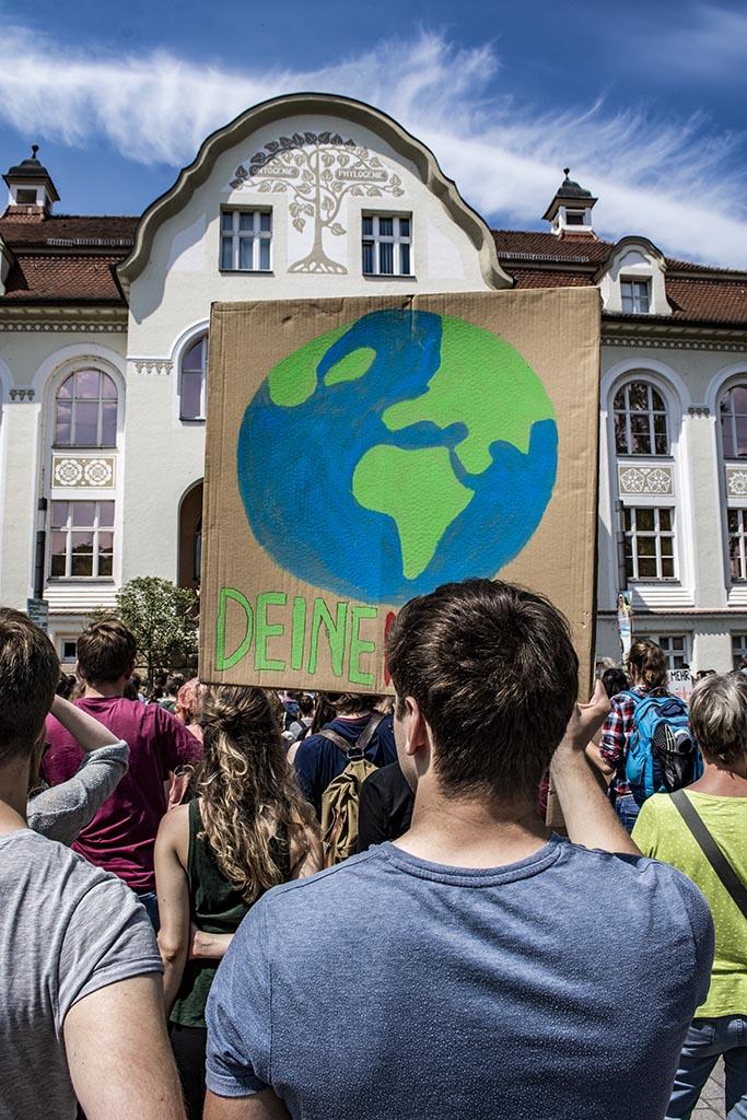 Jena, Demo für nachhaltige Klimaziele und Verkehrswende