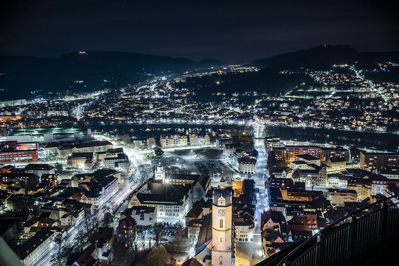 Jena - CityLights, Fotografie in den Abendstunden