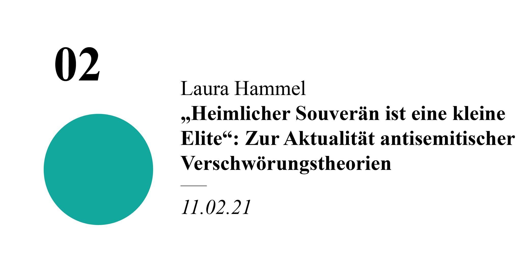 """Laura Hammel - """"Heimlicher Souverän ist eine kleine Elite"""": Zur Aktualität antisemitischer Verschwörungstheorien"""