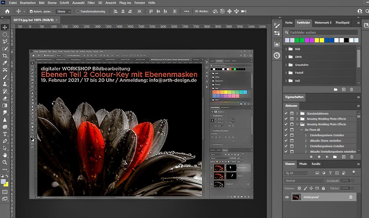"""Arbeiten mit Ebenen Teil 2 """"Colour-Key mit Ebenenmasken erstellen"""""""