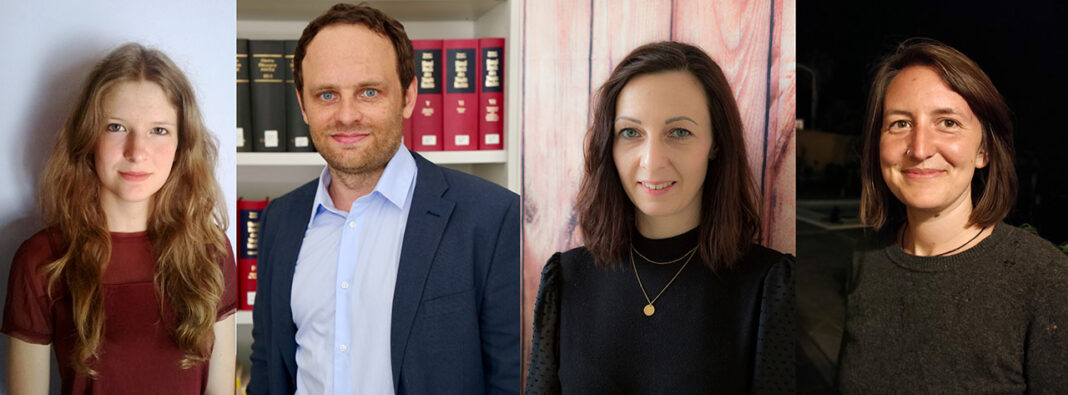 Von links: Joanna Wolf, Prof. Dr. Frederik v. Harbou, Susann Detko, Mahin Caliskan Collage: Mai Lan Phan // EAH Jena
