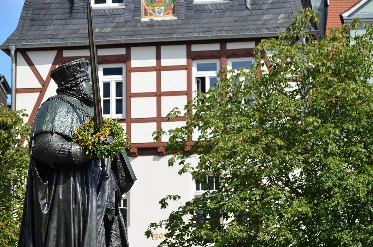 Blick ins Jenaer Stadtzentrum / Marktplatz, Fotografik, Jenafotografx.de
