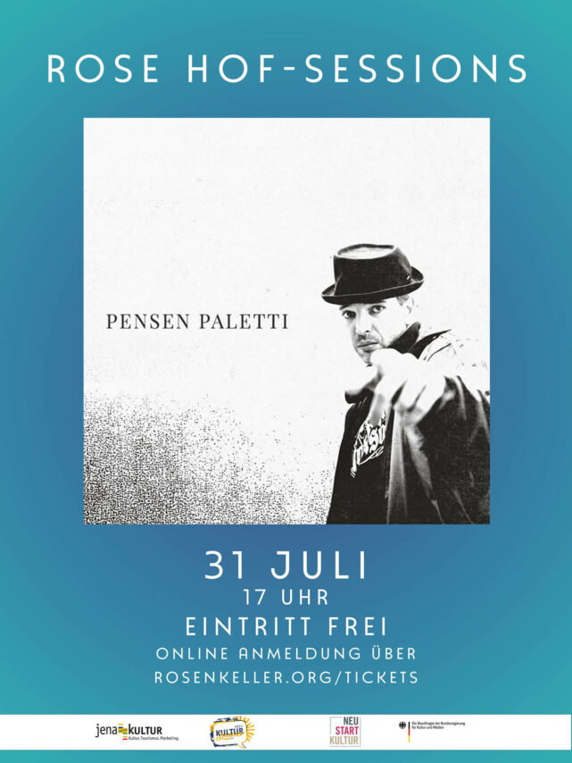 Rose Hof Session - Pensen Paletti, Grafikflyer Rose Jena (FB Eventflyer)