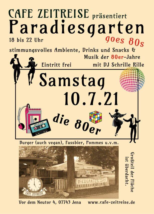80er-Jahre mit DJ Schrille Rille am Samstag, 10.07. Café Zeitreise