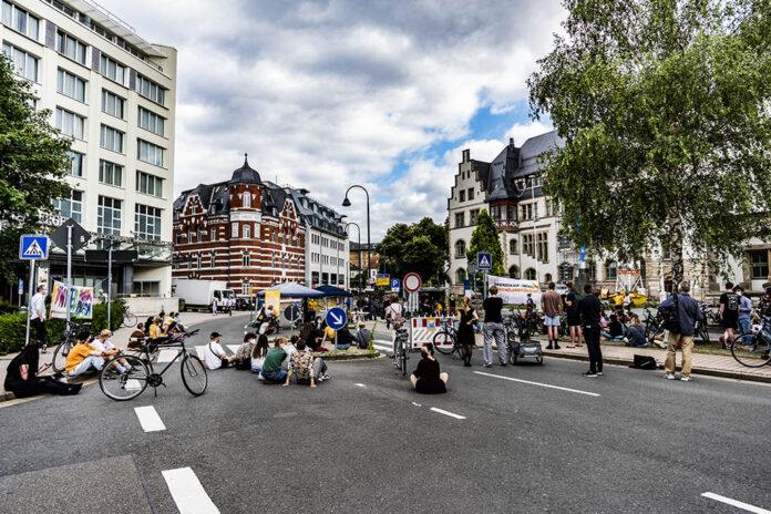 Demo: Klimaneutral – Jena konsequent gerecht gestalten! Foto: Jenafotografx.de