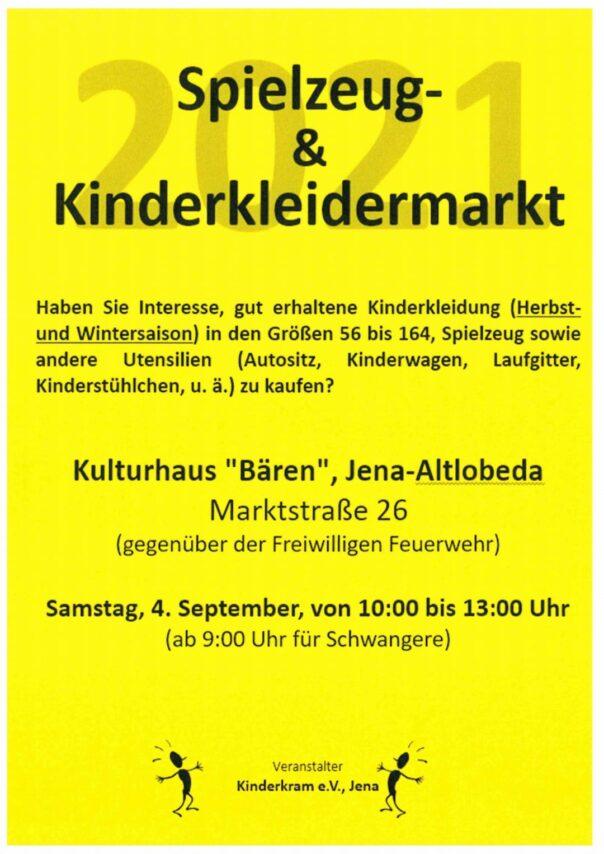 Spielzeug- und Kinderkleidermarkt Jena 2021