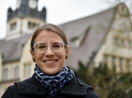 Die neue Jenaer Theologin Prof. Dr. Sarah Jäger. (Foto: Anne Günther/Universität Jena)
